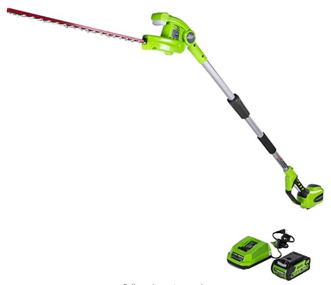 Greenworks PH40B210 20-Inch 40V Cordless Pole Hedge Trimmer